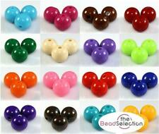 300x 6mm / 200x 8mm / 100x 10mm ROUND ACRYLIC BEADS 18 COLOUR CHOICE