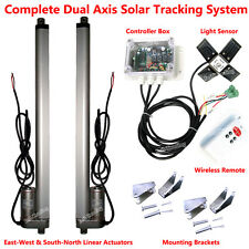 Dual Axis Solar Tracking Tracker Linear Actuator&Controller Electronic Sun Track