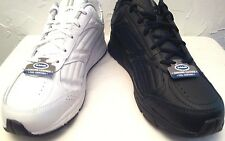 "Dr Scholls -MEN Most Size's ""WIDE WIDTH"" BLACK or WHITE LEATHER Athletic Shoes"