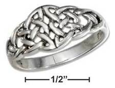 Sterling Silver Open Double Celtic Knots Ring - Ring Size: 06 to 10