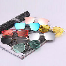 WW New Men Women Metal Frame Square Mirror Sunglasses Beach Unisex UV400 Eyewear