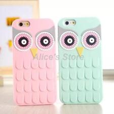 For Apple iPhone 6 6Plus 5S 3D Candy Cartoon Owl Soft Silicone Rubber Case Cover
