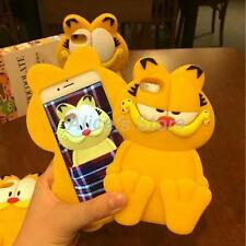 For Iphone 6S 6 Plus 3D Cartoon Lazy Garfield Cat Soft Silicone Phone Case Cover