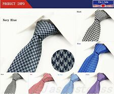 Fashion Mens Hand Made Tie Set With Check-Swallow Gird Tie With Gift Box New #