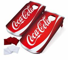 Bean Bag Toss for Adults Kids Cornhole Game Set Coca Cola Wood Boards Tailgate