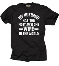 My Husband has Awesome Wife T-shirt Awesome fine Funny Tee Shirt Gift Tee