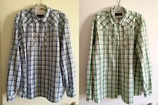 Orvis Trout Bum Button Front Long Sleeve Fishing Shirt Mens Large Plaid