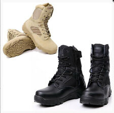 Men's Leather Tactical Army Military Ankle Boots Combat SWAT Armour Work Shoes