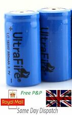 1 & 2 x 16340 CR123A CR123 Rechargeable Battery for Ultrafire Flashlight Charger