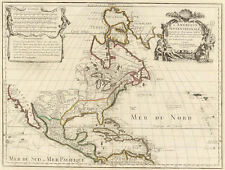 1700 Map of North America by De L'isle (antique map reproduction)