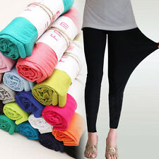 Fashion Women's Sexy Stretchy Leggings Skinny Cotton High Waist  Pants Jeggings