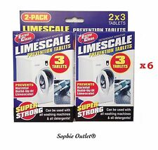 6 x LIMESCALE PREVENTION TABLETS Washing Machine Cleaner Descaler Water Softener