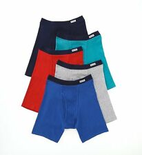 Fruit Of The Loom 5CBB001 Assorted 100% Cotton Knit Boxer Briefs - 5 Pack