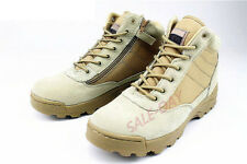 New Men hiking shoes Leather Military Tactical Climbing Desert Combat Boots Gift