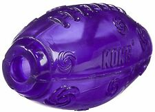 KONG SQUEEZZ FOOTBALL FETCH TOY SQUEAKY DOG TOY fun dog toy fetch rubber
