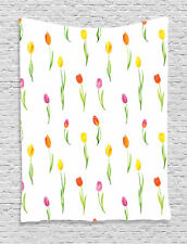 Colorful Tulip Pattern Country Style Floral Home Decor Art Wall Hanging Tapestry