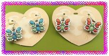 BRIGHTON BUTTERFLIGHT Butterfly Dangle EARRINGS New TURQUOISE BLUE or COLORS