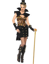 Ladies Steam Punk Steampunk Victorian Vampiress Vampire Fancy Dress Costume