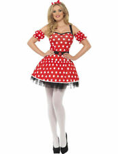 Ladies Fever Madame Minnie Mouse TV Cartoon Outfit Fancy Dress Costume