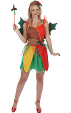 Ladies Sexy Christmas Fairy Holly Elf Xmas Party Fancy Dress Costume