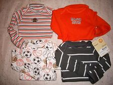 CARTER'S 4 PACK BODYSUITS BABY BOY NWT SPORTS LONG SLEEVE FOOTBALL ++