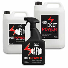 NAF Off Deet Power Equine Fly / Bug / Insect Repellent Spray & Refill Horse Pony