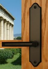 FPL Athens Entry Door Lever Set and Back Plates with Deadbolt