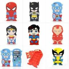 WOLVERINE BATMAN SPIDERMAN SUPERMAN IRONMAN UK SELLER IPHONE SILICONE CASE COVER