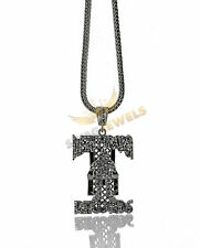 "Iced Out Gunmetal DEATH ROW RECORDS Pendant Necklace + 30 36"" HipHop Chain Tupac"