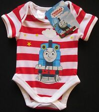 Baby Boys THOMAS Romper Bodysuit Outfit The Tank Red White Comfy 0000 000 NEW