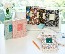 Premium Floral Daily Diary Planner Organizer 12 Month Scheduler Pages Undated