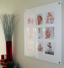 """Large ACRYLIC magnetic 28.5"""" SQUARE multi PHOTO FRAME 9X 6x6"""" Instagram PICTURE"""