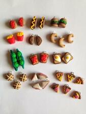 10 20 Junk Food Charms Lot Choose Burger Pizza Hotdog Fries Peas Beans Egg Fimo