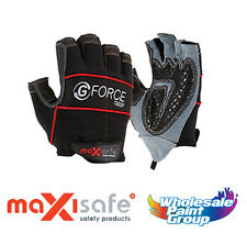 Maxisafe G-Force 'Grip' Mechanics Synthetic Fingerless Safety Gloves