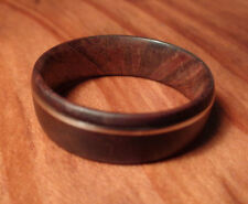 Band Ring,Manzanita Wood Ring,Handcrafted Wood Ring With Guitar String Inlay,NEW