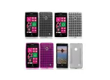 TPU Crystal Skin Flexi Gel Protector Cover Phone Case for Nokia Lumia 521