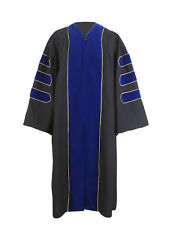 Deluxe Doctoral Graduation Gown Unisex PHD Gown