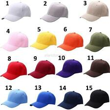 Men Women Adjustable Visor Hat Plain Baseball Cap Solid Trucker Blank Curved Hat