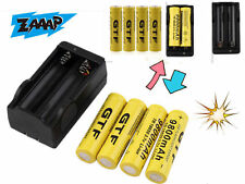4pcs 18650 3.7V 9800mAh Rechargeable Li-ion Battery + Charger For Torch YM
