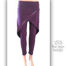 Avatar Nepal Fair Trade Cotton Lycra Skirted Purple Moon Phase Yoga Leggings