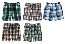 JUMPING BEANS Boys Shorts Size 3 9 12 18 24 Months 2T Toddler Cotton Plaid NEW