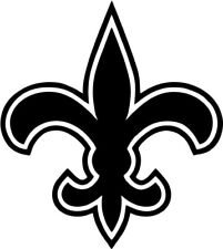 Saints Fleur De Lis - Vinyl Car Window and Laptop Decal Sticker