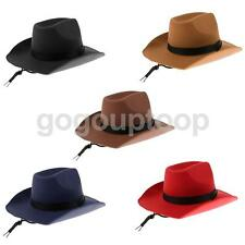 Adults Felt Cowgirl Cowboy Hat Wild West Western Wide Brim Stetson Fancy Dress