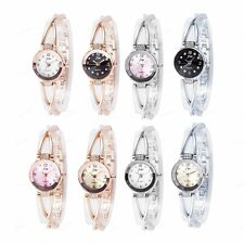 Lady Fashion Quartz Analog Diamond Decoration Steel Strap Band Wrist Watch