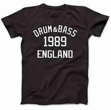 Drum & Bass Music 1989 T-Shirt 100% Premium Cotton Goldie Drum 'n' Bass D&B