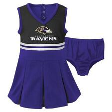 NWT Baltimore Ravens NFL Infant/Toddlers Girls 2-Piece Cheerleader Set