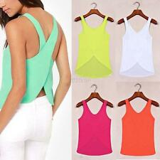 Fashion Women Summer Casual Vest Top Sleeveless Blouse Tank Blouse Tops T-Shirt