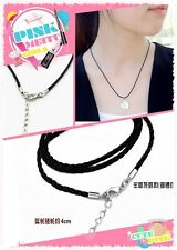 Fashion New 5Pcs PU Leather Chains Necklace Charms Findings String Cord 18'' DIY