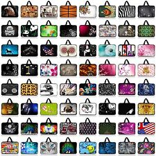 """Many Designs 10"""" Case Sleeve Bag +Hide Handle For 9.7"""" 10"""" 10.1"""" 10.2"""" Laptop PC"""
