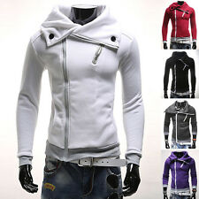 Men Casual Cotton Slim Fit Hooded Sweetshirts Hoodies Winter Coat Jacket Sweater